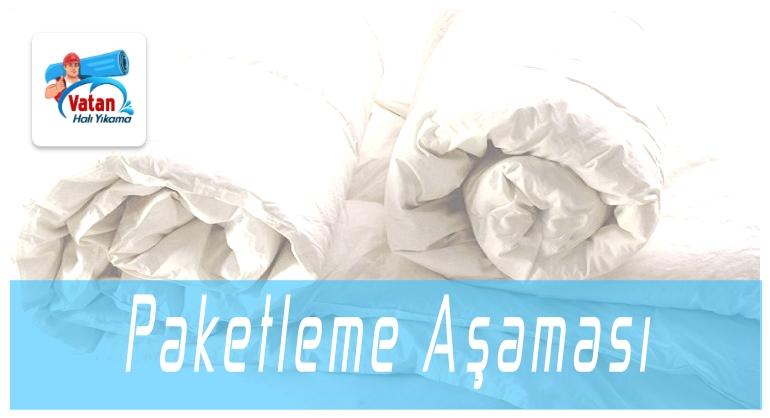 Battaniye Paketleme Aşaması